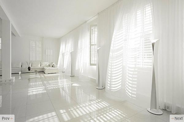 белый интерьер от Light locations