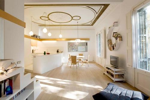 дизайн испанской квартиры Miel Arqutectors