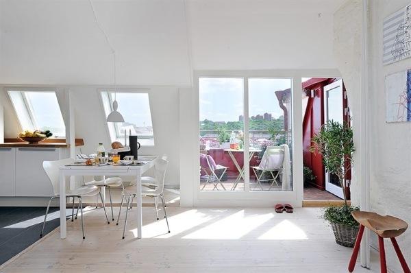 дизайн интерьера квартиры в Швеции