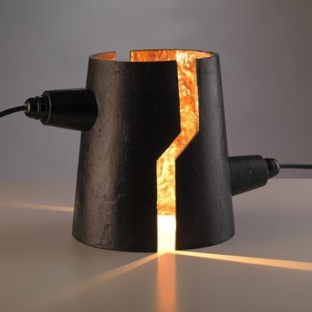 """бронзовые лампы скульптуры """"Тесла"""""""