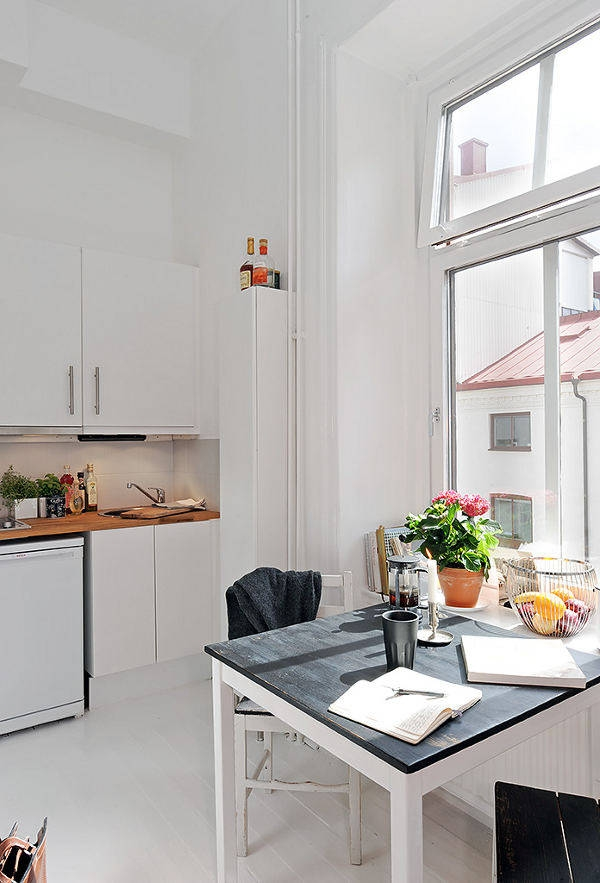Интерьер и декор небольшой квартиры в Швеции