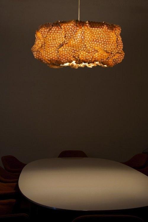 """Потолочный светильник """"Мисс Майпл"""" (Miss Maple) изготовленный из дерева"""