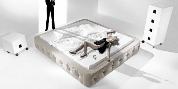 Кровать Ойстер (Oyster) от Giuseppe Viganò для NEST Italia.