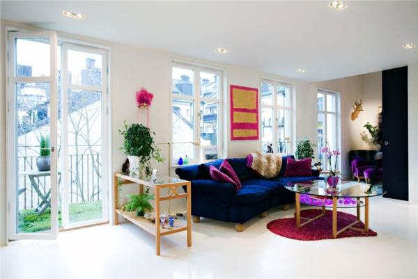 Дизайн квартир фиолетовый