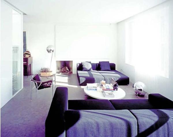 Фиолетовый цвет в дизайне интерьера