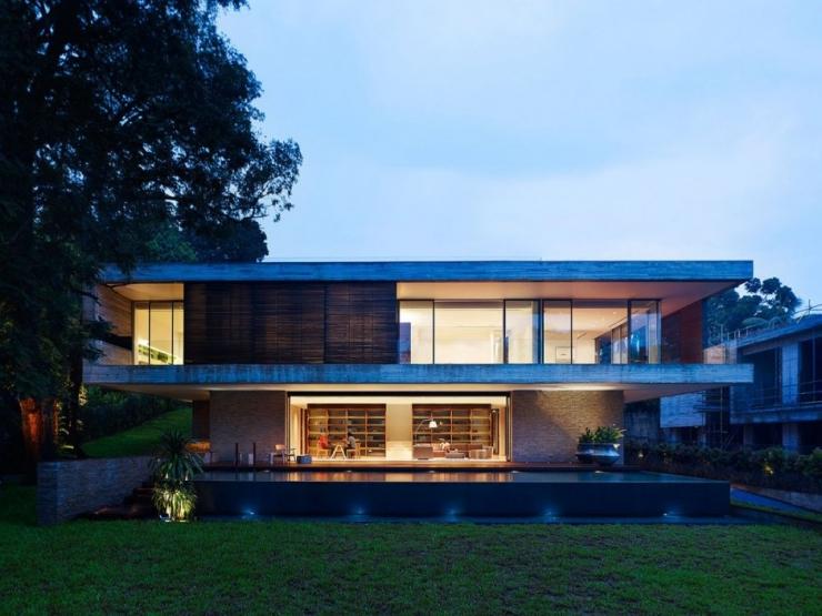 Дом  JKC1 от архитектурного бюро ONG ONG в Сингапуре