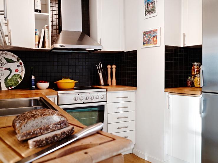 Интерьер шведкой квартиры со сложной планировкой