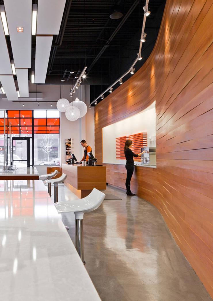 Концептуальный магазин dpHUE от Julie Snow Architects