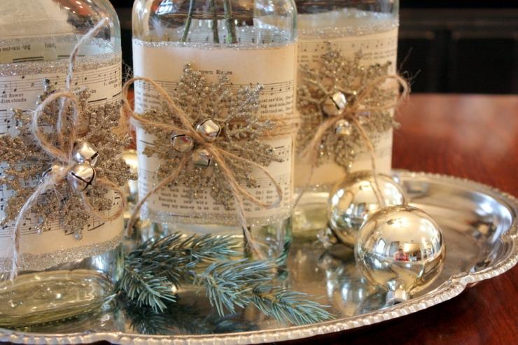 Украшение новогоднего стола 2013