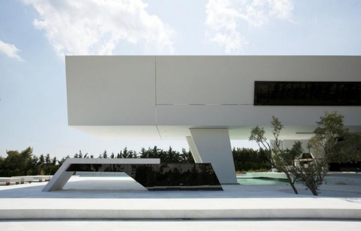 Футуристическая резиденция в Афинах от Архитектурной Студии 314