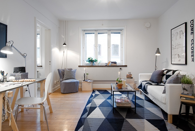 Уютная квартирка: все секреты белого