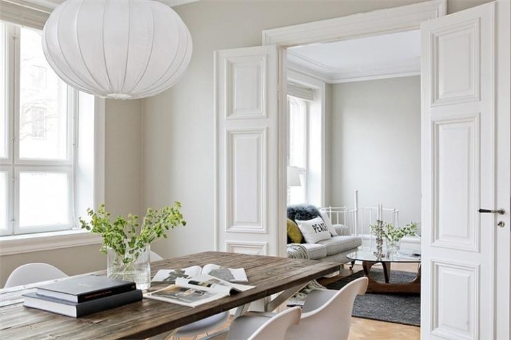 Воздушный интерьер квартиры в Мальмё