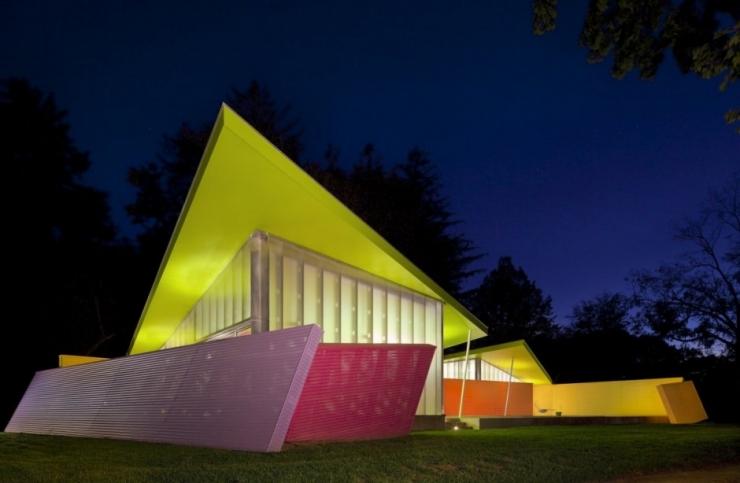 Красочный дом в Нью Йорке - Shelter Island от Stamberg Aferiat + Associates