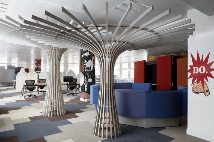 Интерьера офиса рекламной компании JWT в Амстердаме