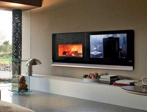 Камин и телевизор «Scenario» MCZ