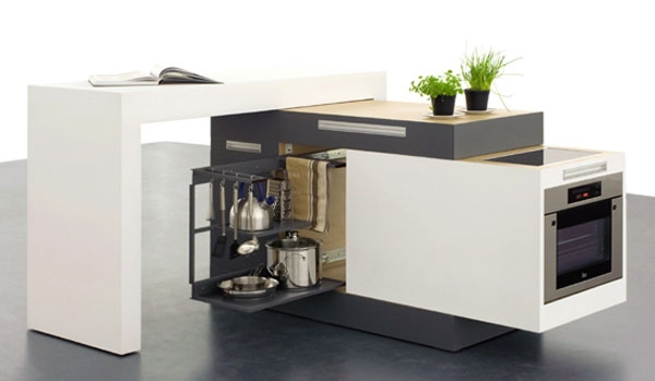 """""""Умная"""" кухня для маленьких помещений от Kristin Laass и Norman Ebelt"""