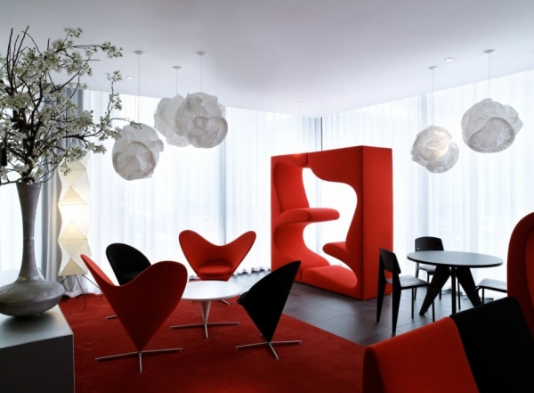 Интерьер гостиницы citizenM Hotel от Concrete Architectural Associates