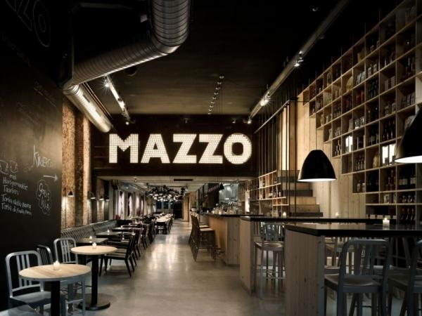 """Интерьер ресторана """"Mazzo"""" от Concrete Architectural Associates"""