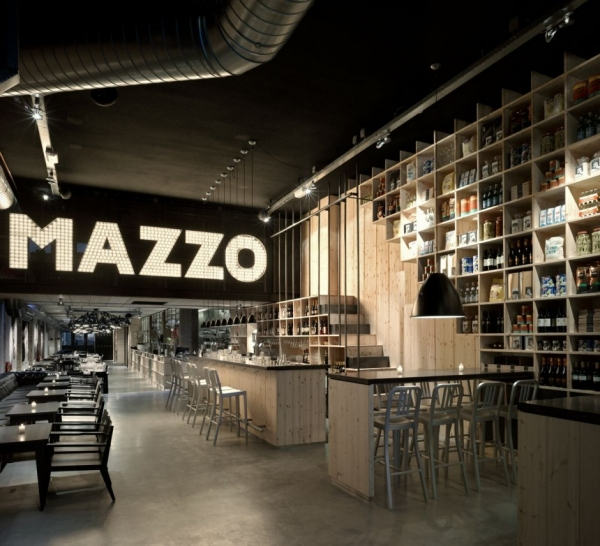 "Интерьер ресторана ""Mazzo"" от Concrete Architectural Associates"