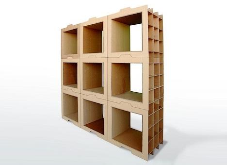 Модульные картонные стеллажи