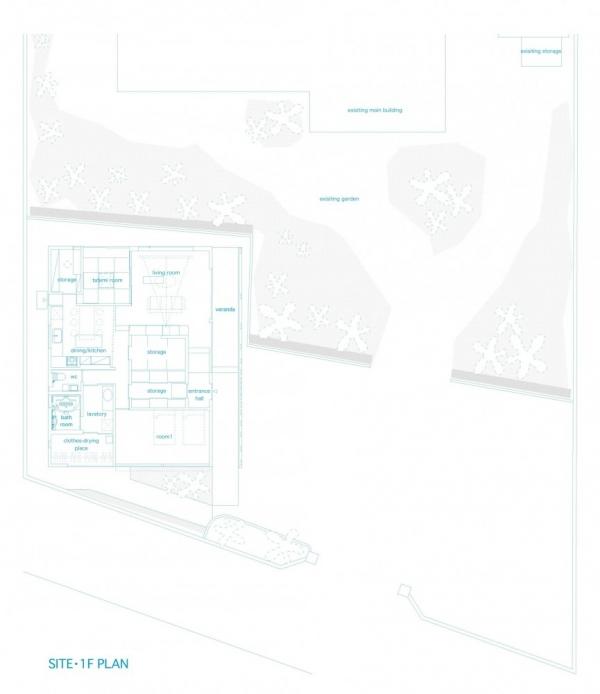 Дом cо стеклянными жалюзи от StudioGreenBlue