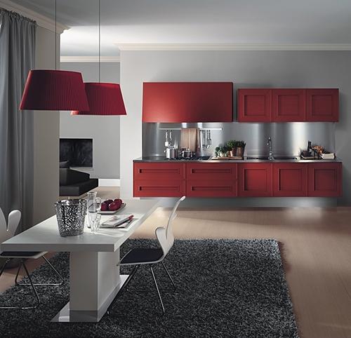 Красные акцентные кухни Melograno от Composit