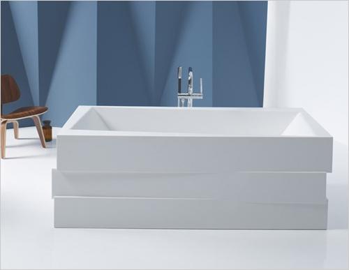 Геометрия и минимализм ванной комнаты