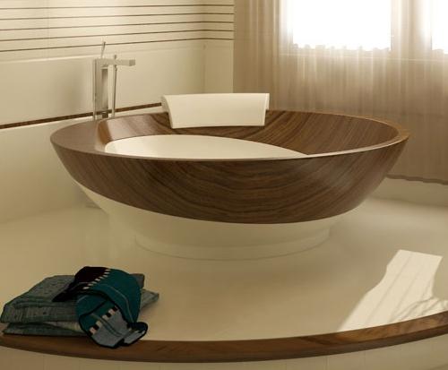 Необычные идеи для ванной комнаты из дерева