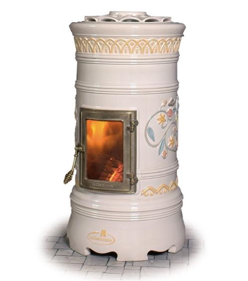Керамическая печь с этническим мотивом