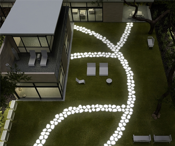 Тротуар для сада с подcветкой