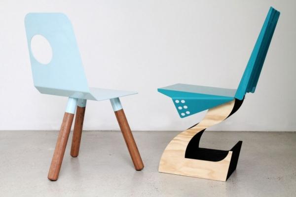 Полнолуние и Гибрид - стулья дизайнера Justin Lamont