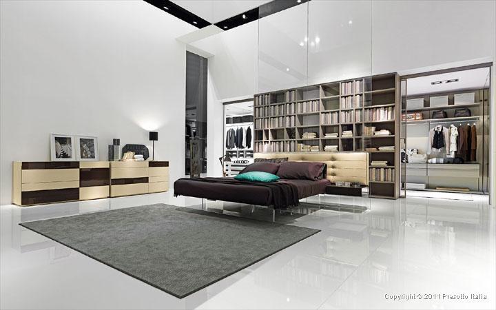 Современная кровать в современной спальне