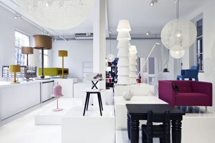 Интерьер мебельной галереи Moooi Gallery