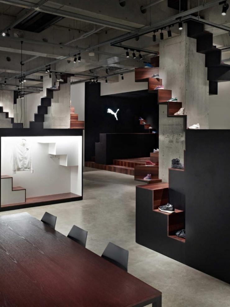 Дизайн спортивного магазина Puma от Nendo