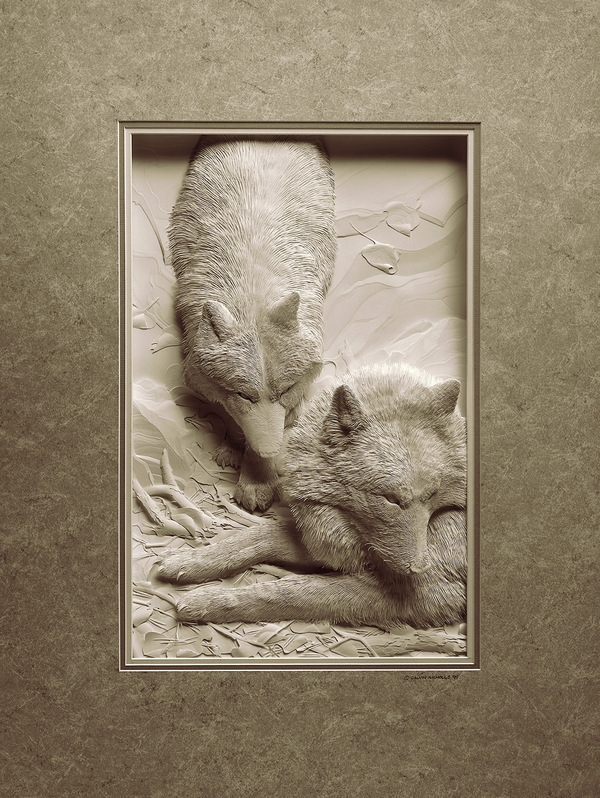 Удивительные бумажные скульптуры от Calvin Nicholls