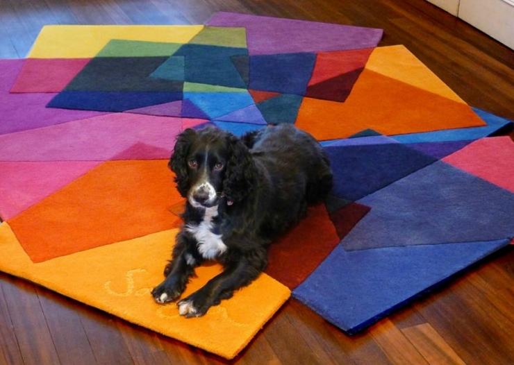 Яркие геометрические коврики от Sonya Winner