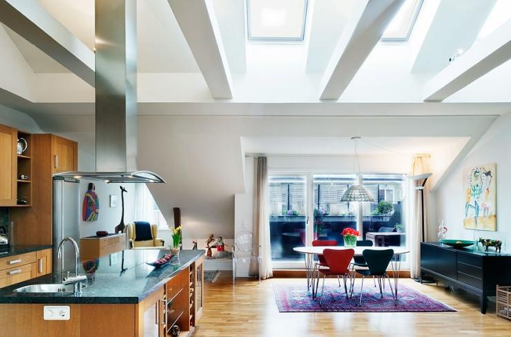 Шведская квартира наполненная светом