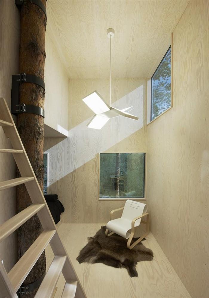 Отель в деревьях от Tham & Videgård Arkitekter