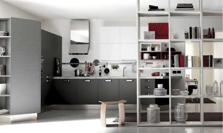 Воздушные кухни с вкраплениями цвета