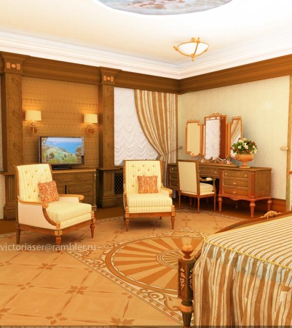 Спальня частного дома, Санкт-Петербург