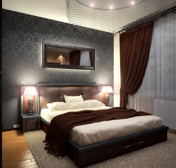 дизайн интерьера спальни фото: