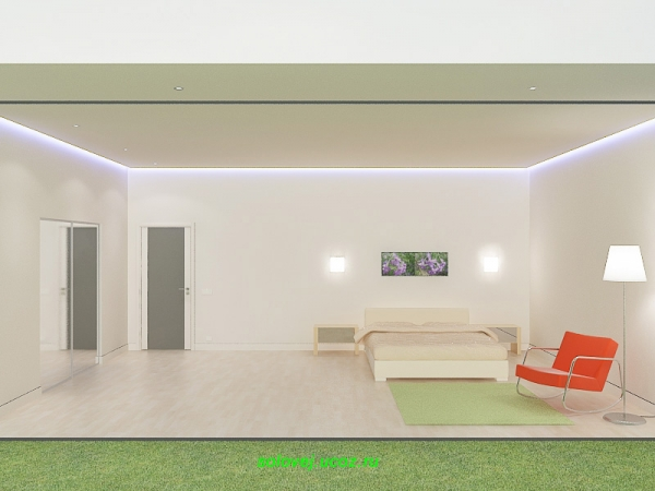 Спальная комната в доме.
