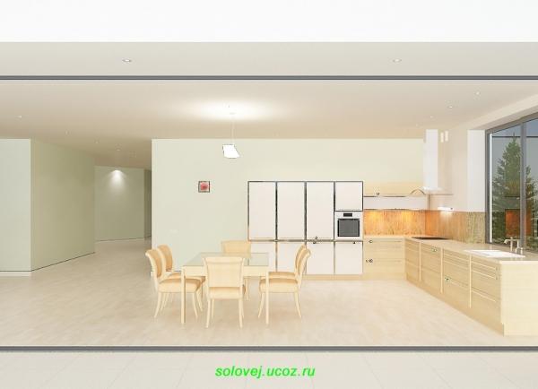 Кухонная комната в доме.