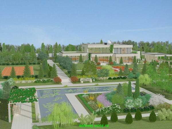 Ландшафтный проект частного дома