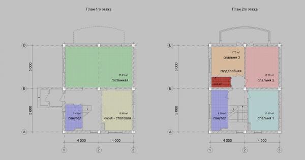 планы 1,2 этаж