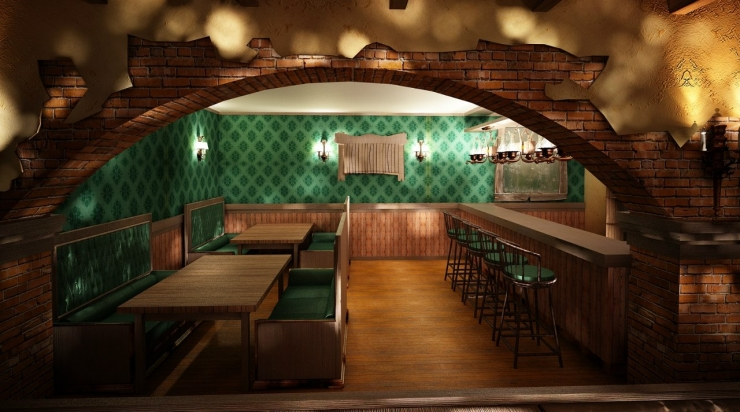 Irish pub interior