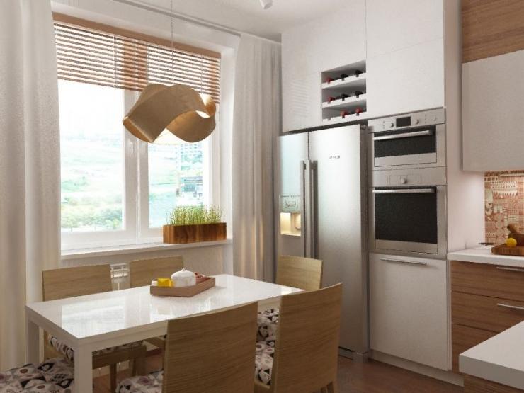 Дизайн гостиной с окном во всю стену