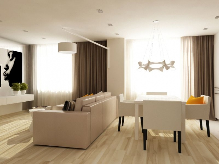 Дизайн интерьера 3 комнатной квартиры фото