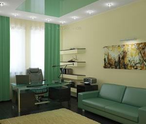 Дизайн-проект интерьера кабинета, дизайн кабинета, проект интерьера кабинета для частного загородного дома, www.nobilis.kiev.ua