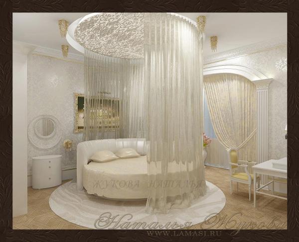 дизайн интерьера спальни для новобрачных